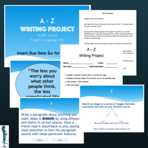 Middle School A-Z Writing Project