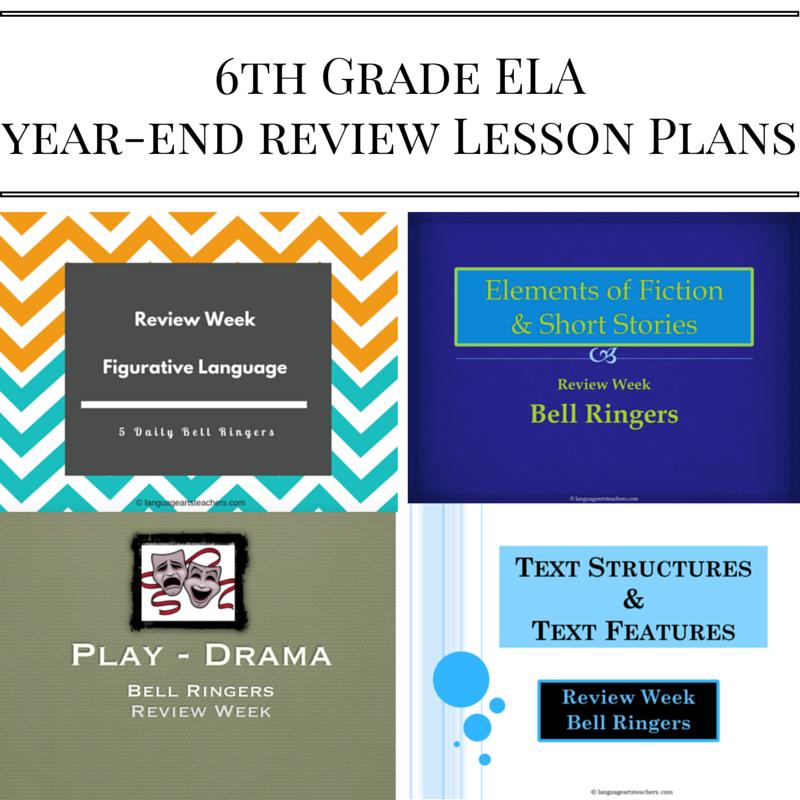6th Grade Language Arts Classroom Decorations ~ Th grade ela year end lesson plans — language arts