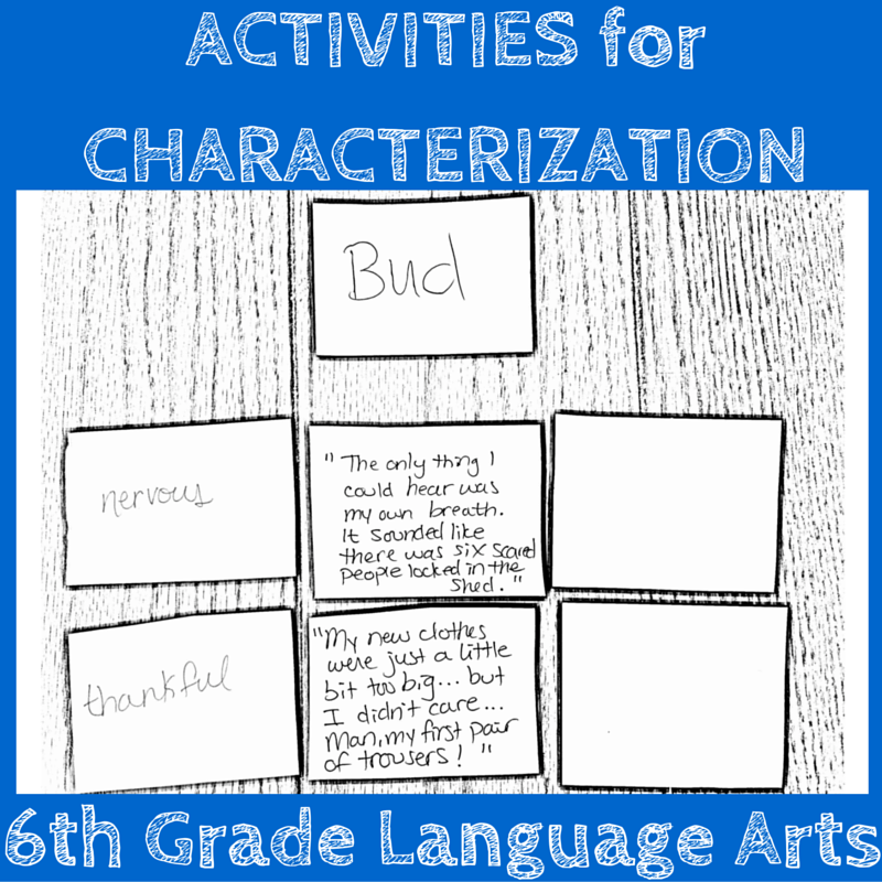 ACTIVITIES for CHARACTERIZATION