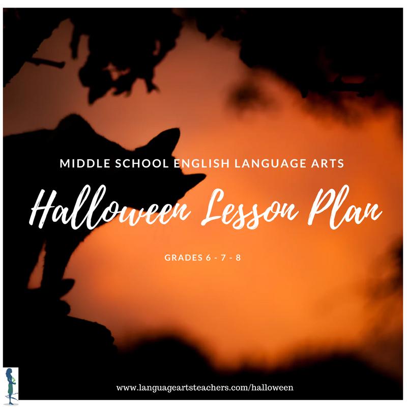 Middle School ELA Halloween Lesson Plan